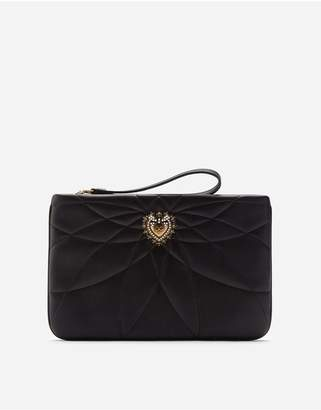 Dolce & Gabbana Quilted Nappa Leather Devotion Clutch