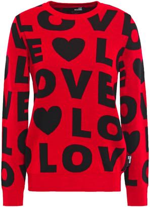 Love Moschino Wool-blend Jacquard Sweater