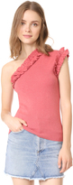 Rebecca Taylor One Shoulder Cozy Top