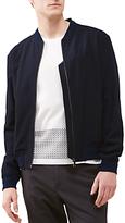 Jigsaw Italian Seersucker Wool Bomber Jacket