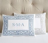 Pottery Barn Embroidered Monogram Boudoir Pillow Cover