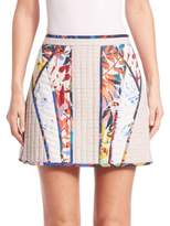 BCBGMAXAZRIA Andrick Quilted Patchwork Miniskirt