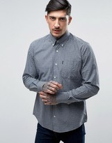 Barbour Gingham Check Shirt Buttondown Tailored Slim Fit