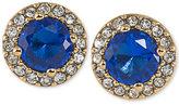 Lauren Ralph Lauren Gold-Tone Stone and Crystal Round Stud Earrings