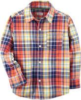 Carter's Long Sleeve Button-Front Shirt Boys