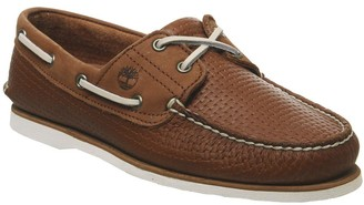 Timberland New Boat Shoes Medium Brown Full Grain