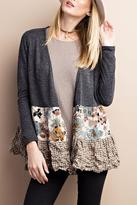Easel Cardigan With Flair
