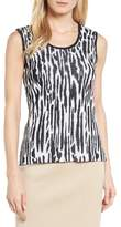 Ming Wang Animal Pattern Knit Tank