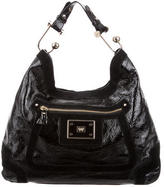 Anya Hindmarch Suede-Accented Patent Leather Hobo