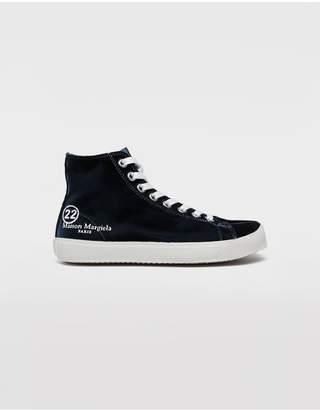 Maison Margiela Tabi High-Top Velvet Sneakers