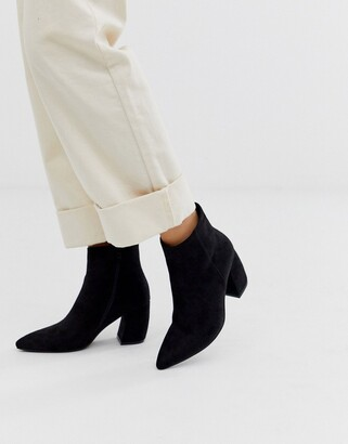 Park Lane flare heel pointed ankle boots