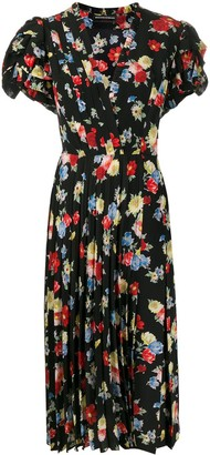 Ermanno Scervino Silk Floral Midi Dress