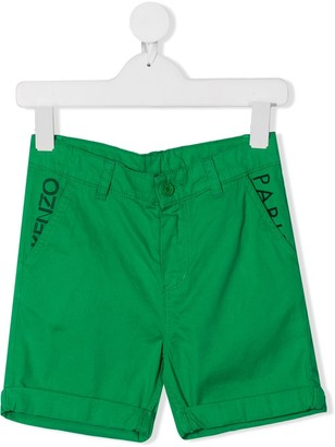 Kenzo Kids Logo Embroidered Shorts