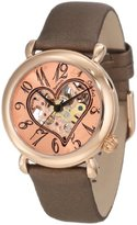 Stuhrling Original Women's Automatic Watch with Brown Dial Analogue Display and Brown Leather Strap 10912450000000000