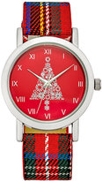 Charter Club Women's Plaid Strap Watch 28mm, Only at Macy's