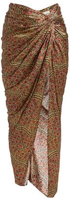 KHAITE Louie Floral Maxi Skirt