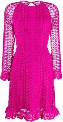 Temperley London Sunbird heart-shaped embroidery dress