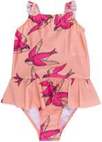 Mini Rodini swallows print swimsuit