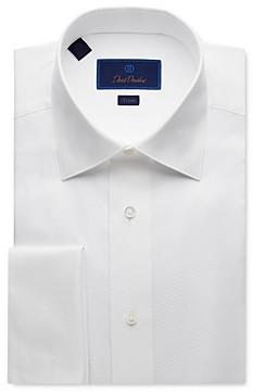 David Donahue Jacquard Trim Fit Tuxedo Shirt