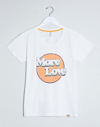 Blend She More Love slogan t-shirt in white