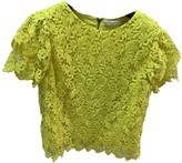 Alice + Olivia Alice & Olivia Yellow Lace Top for Women