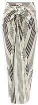 Mara Hoffman Izzi Tie-front Striped Canvas Skirt - Womens - Black Stripe