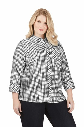 Foxcroft Women's Plus Size Button Up