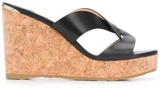 Jimmy Choo Atia 100mm wedge sandals