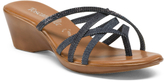 Made In Italy Cross Band Slide Sandals
