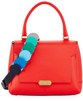 Anya Hindmarch Bathurst Small Leather Satchel Bag, Red
