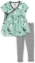 Tea Collection Infant Girl's Seabirds Print Top & Stripe Leggings Set