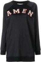 Amen logo patch sweatshirt