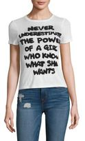 Alice + Olivia Cicely Be The Change Classic Tee