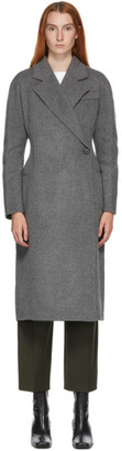 LVIR Grey Wool Handmade One-Button Coat