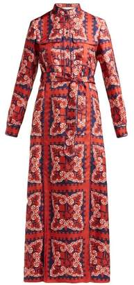 Valentino Bandana Print Silk Dress - Womens - Red Multi