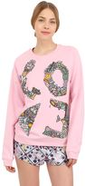 Mary Katrantzou Love Embellished Cotton Sweatshirt