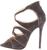 Jimmy Choo Suede Caged Pumps