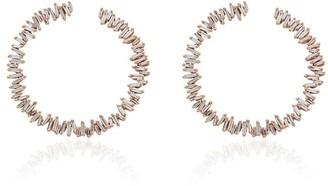 Suzanne Kalan Rainbow Fireworks Spiral Hoop Earrings