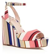Kate Spade Dellie Striped Platform Wedge Sandals