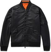 Beams Reversible Appliquéd Nylon Bomber Jacket
