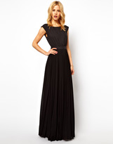 MANGO Maxi Dress With Pleat Skirt And Open Back
