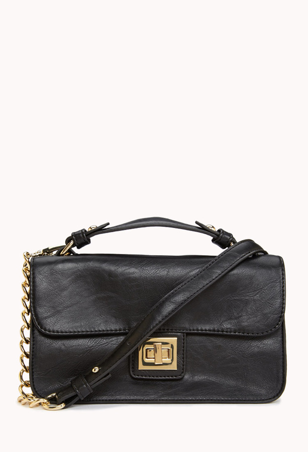 Forever 21 Classic Faux Leather Handbag