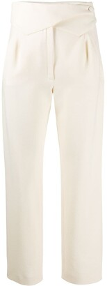 BLAZÉ MILANO Pointed Waistband Straight-Leg Trousers