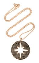 Sydney Evan Starburst Medallion with Black Diamonds