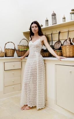 Luisa Beccaria Lucilla'S Eyelet Cotton Maxi Dress