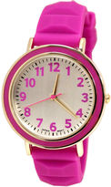 JCPenney FASHION WATCHES Womens Silicone Pyramid Strap Watch