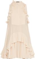 Alexander McQueen Ruffled silk-georgette dress