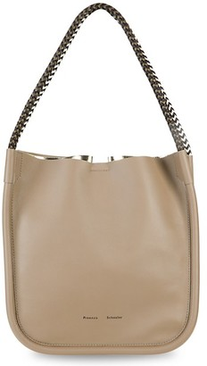 Proenza Schouler L Lux Rope Handle Leather Tote