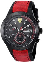 Ferrari Scuderia Men's 'RED REV EVO CHRONO' Quartz Resin and Leather Casual Watch, Color:Green (Model: 0830399)