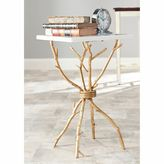 Safavieh Alexa Marble Top Accent Table in White/Gold